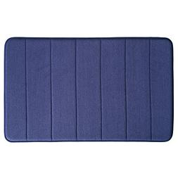 InterDesign Soft Memory Foam Non-Slip Bath Mat for Bathroom,