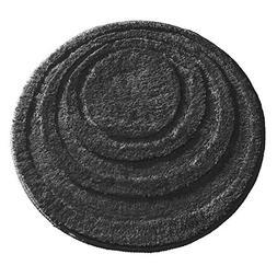 mDesign Soft Microfiber Polyester Non-Slip Round Spa Mat, Pl
