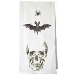 Montgomery Street Spider, Bat and Skull Cotton Flour Sack Di