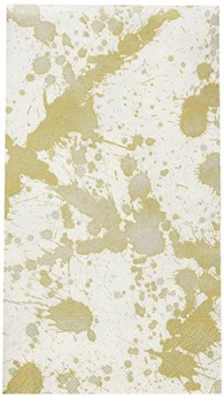 Caspari - Disposable Folded Bathroom Hand Towel, Splatterwar