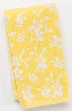 Saturday Knight Spring Garden Floral Hand Towel, Yellow