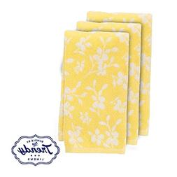 Spring Garden Yellow Floral Hand Towels - Bathroom Shower Co