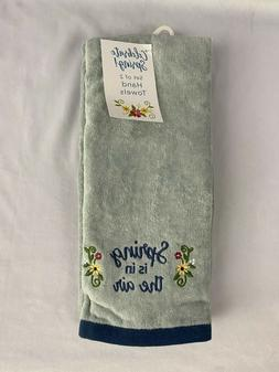 Spring is in the Air Hand Towels in Blue