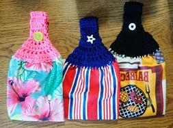 Spring/Summer Kitchen Hand Towels, Crochet Top You Pick Desi