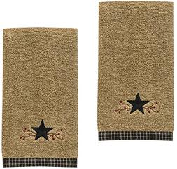 Park Designs Star Vine Terry Embroidered Cotton Fingertip To
