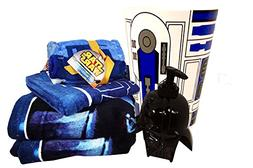 Star Wars Bathroom Set with 2 Bath Towels, 1 Hand Towel, 6 W