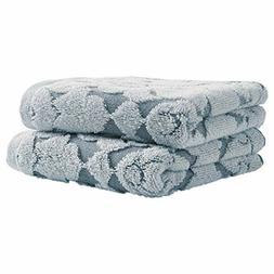 Stone Beam Flora Jacquard Cotton Hand Towel Set, 2-Pack, Reg