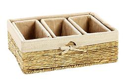 Storage Basket - 4-Piece Nesting Baskets, Beiger Storage Con