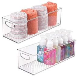 mDesign Storage Bins with Built-in Handles for Organizing Ha