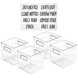mDesign Plastic Storage Organizer Container Cube Bin Holders
