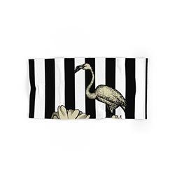"""Society6 Stripe Flamingo Hand Towel 30""""x15"""""""