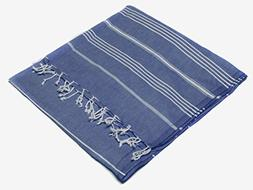 Turkish Emporium Striped 100% Organic Cotton Hand Loomed Bat