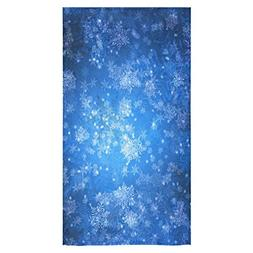 Stylish And Customized Soft And Comfortable Blue Snowflakes