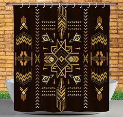 iPrint Stylish Shower Curtain by, Geometric,Tribal Hand Draw