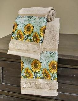Sunflower Hand Towels for Bathroom or Kitchen with Country F