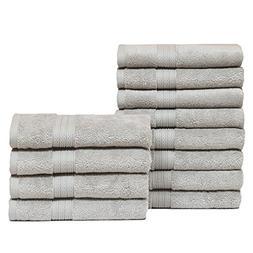 Casa Platino- Super Zero Twist 12 Pack Hand Towel Set 16x28,
