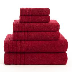 Cotton Craft - Super Zero Twist 6 Pack Towel Set - Cassis -