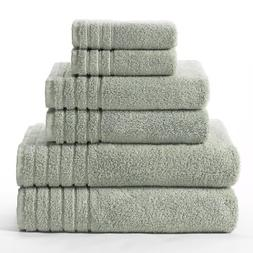 Cotton Craft - Super Zero Twist 6 Piece Towel Set - Spa - 7