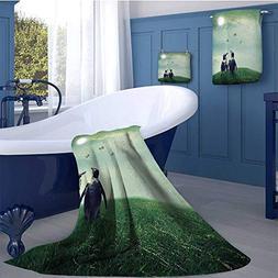 WolfgangDecor Surrealistic Premium Cotton Extra Large Bath T