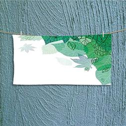 also easy Swimmer Towel Theme with Tropical Leaves Field Wo