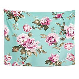 Emvency Tapestries Print 50x60 Inches Shabby Chic Vintage Ro
