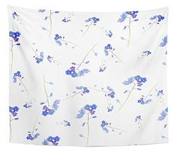 Emvency Tapestry Blue Forget Me Not and Bindweed Spring Flow