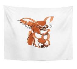 Emvency Tapestry Funny Scketch of Brown Chihuahua Dog With B