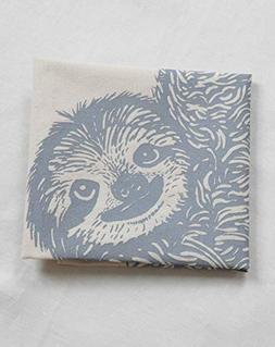 Tea Towel - Sloth Design in Grey -