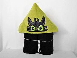 ADULT/TEEN - Black Dragon Hooded Bath Towel - Baby, Child, T