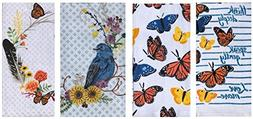 Celebrate Fall Together Floral Butterfly Bird Cotton Kitchen