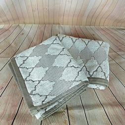 threshold hand towels ogee gray diamond pattern