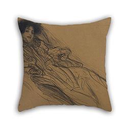 TonyLegner Throw Pillow Case Oil Painting Gustav Klimt - You