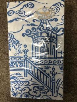 Caspari - Toile Blue Guest Towels