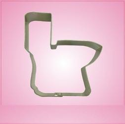 Toilet Cookie Cutter 3 inches by 3-1/2 inches aluminum
