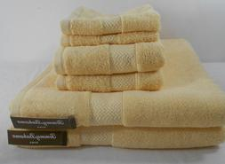 Tommy Bahama 6 Piece Bath Towel Set Cypress Bay Sun Yellow 1