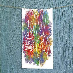 SOCOMIMI Towel Bar Decorations Hippie Peace and Love Symbol