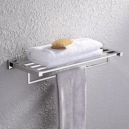 KES Towel Rack, Bathroom Shelf with Towel Bar  Shower Organi