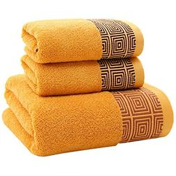 XINTINGHZP 3 Piece Towel Set; 1 Bath Towel, 2 Hand Towels Ba