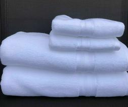 Tommy Hilfiger Towel Set ~ 4-Piece White Classic Solid Cotto