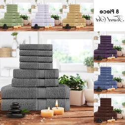 Towel Set 8 Piece Set 2 Bath Towel 2 Hand Towel 4 Washcloth