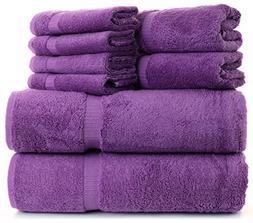 Towel Set 8-pieces Natural Turkish Cotton