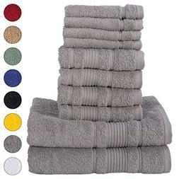 Qute Home 8 Piece Towel Set | Premium Quality Luxury Turkish