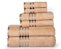 Casa Lino -Premium 6 Piece Towel Set, 2 Bath Towels, 2 Hand