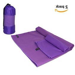 Travel Sports Towels Set 2 Pack ViThink Microfiber Absorbent