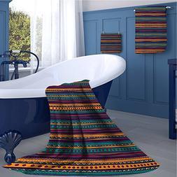 familytaste Tribal Customized bath towel combination Striped