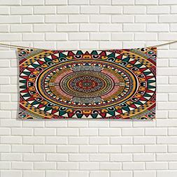 familytaste Tribal gym hand towels African Folkloric Tribe R