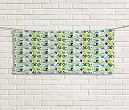 Anniutwo Tropical,Hair Towel,Island Aloha Nature Art Pattern