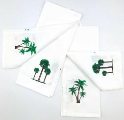 tropical palm trees hand towels simply fun