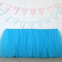Tulle Table Skirt Fabric Tutu Table Clot for Rectangle or Ro