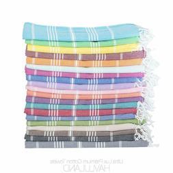Turkish 100 % Cotton Towel Fouta Peshtemal for Beach Bath Sp